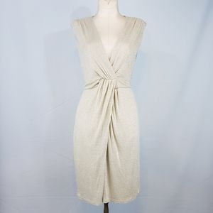 Dorothy Perkins champagne metallic dress size 12